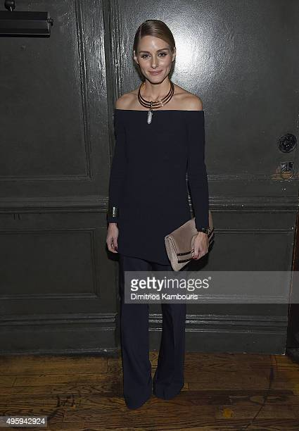 Olivia Palermo attends the the after party for the 'Spectre' prerelease screening hosted by Champagne Bollinger and The Cinema Society on November 5...