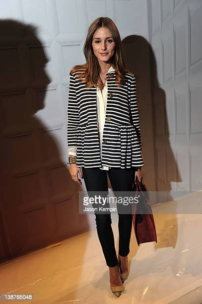 Olivia Palermo attends the Tibi Fall 2012 fashion show during MercedesBenz Fashion Week at The Stage at Lincoln Center on February 11 2012 in New...