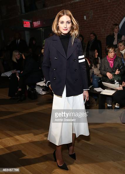 Olivia Palermo attends the Tibi show during MercedesBenz Fashion Week Fall 2015 at The Waterfront on February 14 2015 in New York City