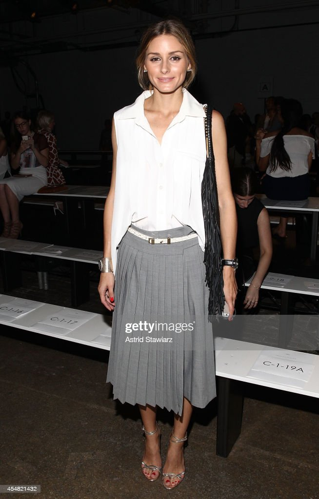 <a gi-track='captionPersonalityLinkClicked' href=/galleries/search?phrase=Olivia+Palermo&family=editorial&specificpeople=2639086 ng-click='$event.stopPropagation()'>Olivia Palermo</a> attends the Tibi Spring 2015 Front Row during Mercedes Benz Fashion Week at Highline Stages on September 6, 2014 in New York City.