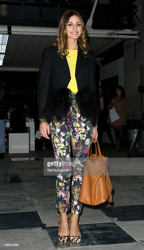 Olivia Palermo attends the Topshop Unique show during London Fashion Week Autumn/Winter 2012 at the the Topshop Show Space on February 19 2012 in...