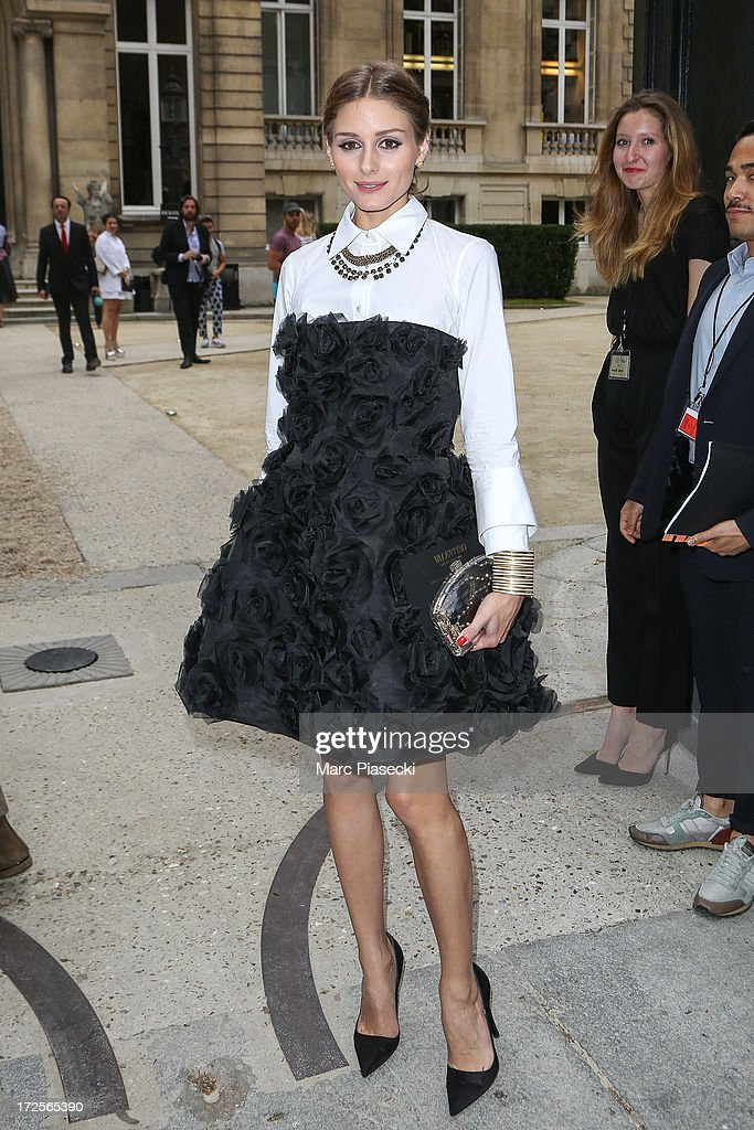 Olivia Palermo attends the Valentino show as part of Paris Fashion Week Haute-Couture Fall/Winter 2013-2014 at Hotel Salomon de Rothschild on July 3, 2013 in Paris, France.