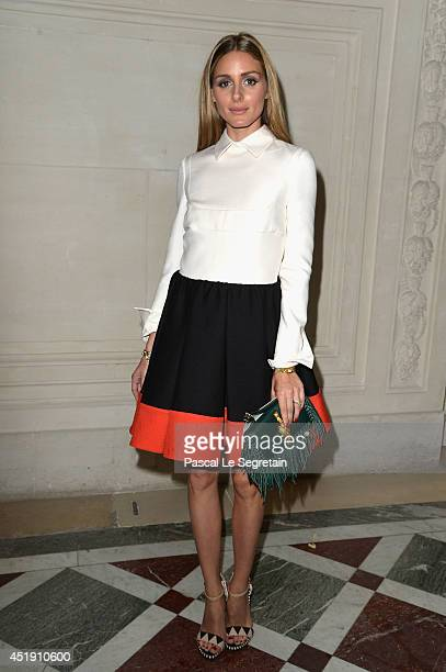 Olivia Palermo attends the Valentino show as part of Paris Fashion Week Haute Couture Fall/Winter 20142015 at Hotel Salomon de Rothschild on July 9...