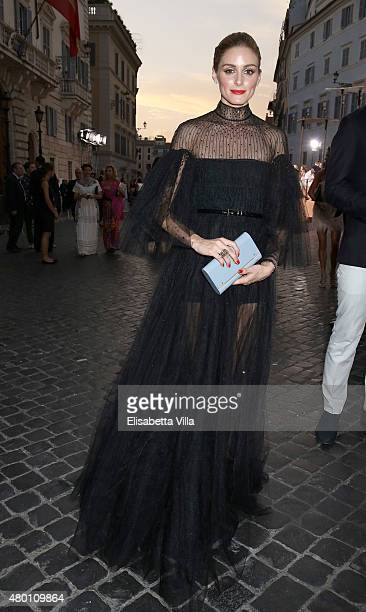 Olivia Palermo attends the Valentinos 'Mirabilia Romae' haute couture collection fall/winter 2015 2016 at Piazza Mignanelli on July 9 2015 in Rome...