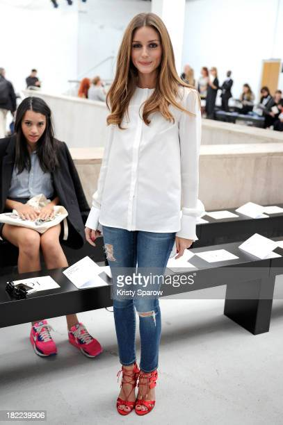 Olivia Palermo attends the Veronique Leroy show as part of Paris Fashion Week Womenswear Spring/Summer 2014 on September 28 2013 in Paris France