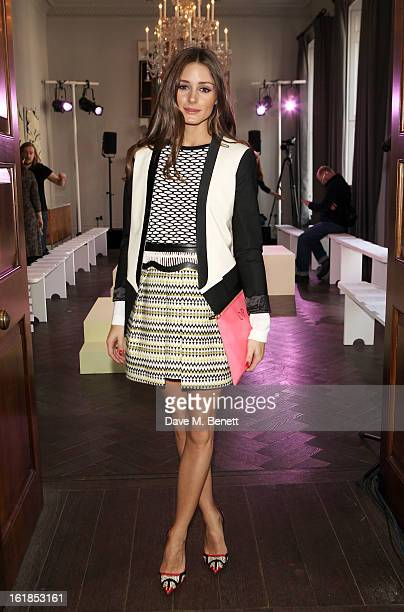 Olivia Palermo attends the Whistles Limited Edition Autumn/Winter 2013 Collection at The Arts Club on February 17 2013 in London England
