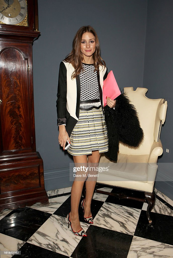 <a gi-track='captionPersonalityLinkClicked' href=/galleries/search?phrase=Olivia+Palermo&family=editorial&specificpeople=2639086 ng-click='$event.stopPropagation()'>Olivia Palermo</a> attends the Whistles Limited Edition Autumn/Winter 2013 Collection at The Arts Club on February 17, 2013 in London, England.