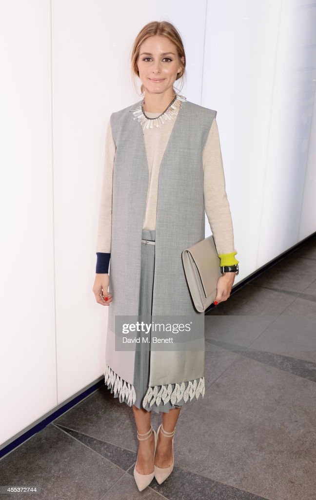 Olivia Palermo attends the Whistles SS 2015 presentation during London Fashion Week at Kings Cross Tunnel on September 13 2014 in London England
