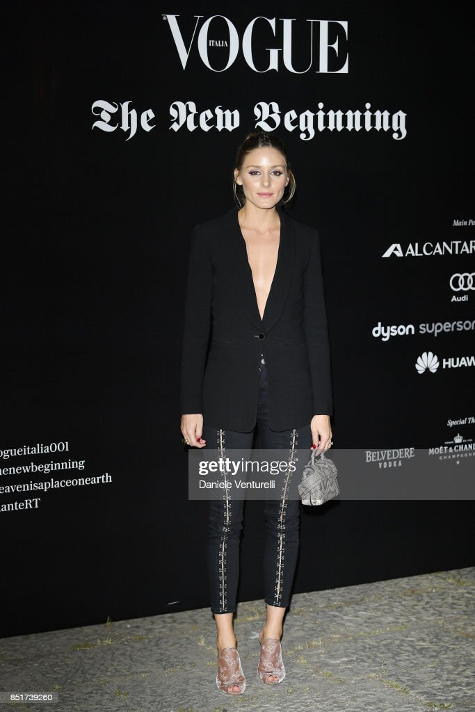 Olivia Palermo attends theVogue Italia 'The New Beginning' Party during Milan Fashion Week Spring/Summer 2018 on September 22, 2017 in Milan, Italy.