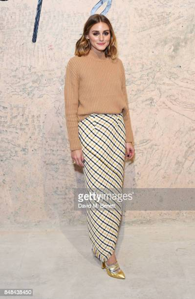Olivia Palermo attends Topshop's London Fashion Week show on September 17 2017 in London England