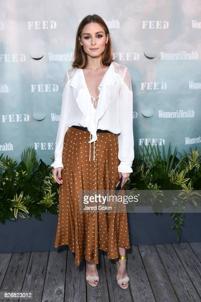 Olivia Palermo attends Women's Health and FEED's 6th Annual Party Under the Stars at Bridgehampton Tennis and Surf Club on August 5 2017 in...