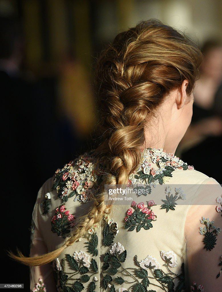 Olivia Palermo hair detail attends the New York City Ballet 2015 Spring Gala at David H Koch Theater Lincoln Center on May 7 2015 in New York City