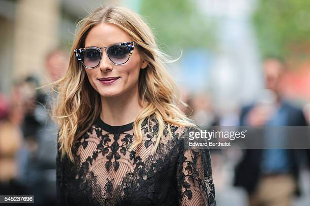 Olivia Palermo is seen after the Elie Saab show during Paris Fashion Week Haute Couture F/W 2016/2017 on July 6 2016 in Paris France