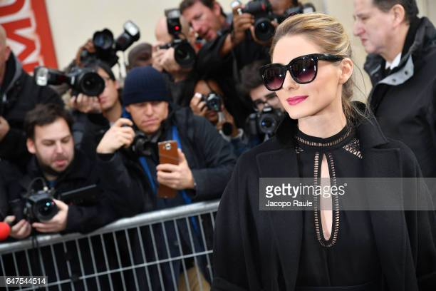 Olivia Palermo is seen arriving at Dior fashion show during the Paris Fashion Week Womenswear Fall/Winter 2017/2018 on March 3 2017 in Paris France