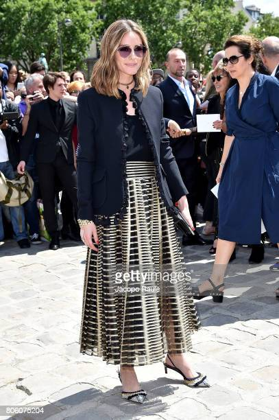 Olivia Palermo is seen arriving at the 'Christian Dior' show during Paris Fashion Week Haute Couture Fall/Winter 20172018 on July 3 2017 in Paris...