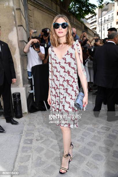 Olivia Palermo is seen arriving at Valentino fashion show during the Paris Fashion Week Haute Couture Fall/Winter 20172018 on July 5 2017 in Paris...