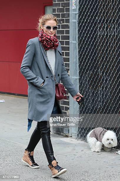 Olivia Palermo is seen in New York City on April 26 2015 in New York City
