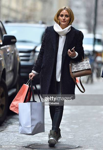 Olivia Palermo is seen in Soho on January 14 2016 in New York City