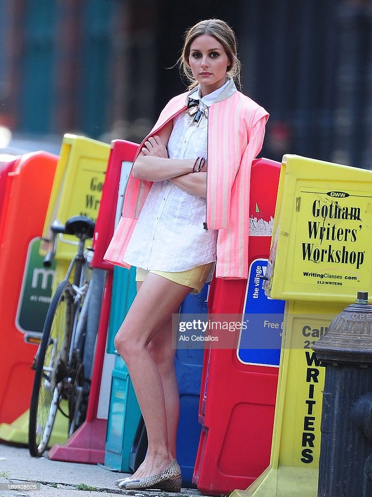 Olivia Palermo is seen in Tribeca during a photo shoot on June 4, 2013 in New York City.