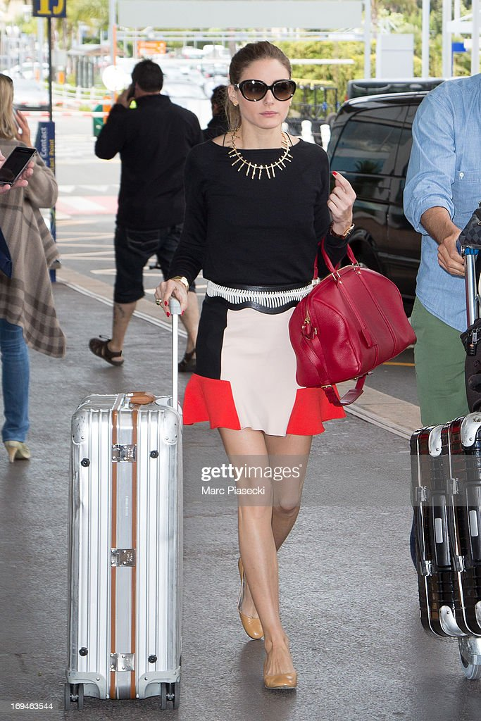 Olivia Palermo is sighted at Nice airport during the 66th Annual Cannes Film Festival on May 25, 2013 in Nice, France.
