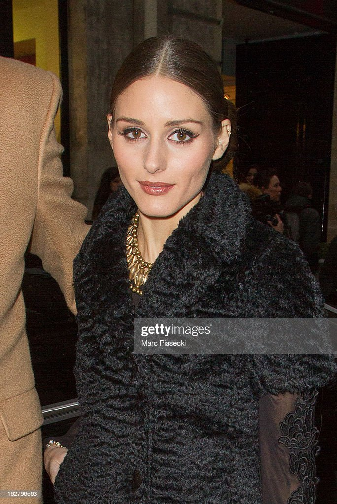 <a gi-track='captionPersonalityLinkClicked' href=/galleries/search?phrase=Olivia+Palermo&family=editorial&specificpeople=2639086 ng-click='$event.stopPropagation()'>Olivia Palermo</a> is sighted at the 'Rochas' Fall/Winter 2013 Ready-to-Wear show as part of Paris Fashion Week on February 27, 2013 in Paris, France.