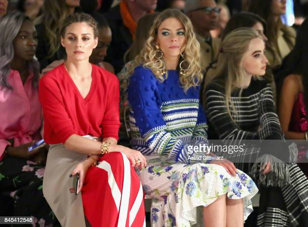 Olivia Palermo Jaime King and Sabrina Carpenter attend Prabal Gurung fashion show during New York Fashion Week The Shows at Gallery 2 Skylight...