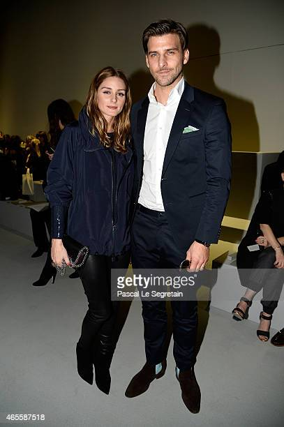 Olivia Palermo Johannes Huebl attend the Akris show as part of the Paris Fashion Week Womenswear Fall/Winter 2015/2016 on March 8 2015 in Paris France