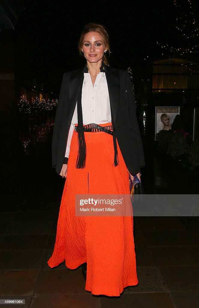 Olivia Palermo leaving the Monica Vinader store launch party on December 4 2014 in London England