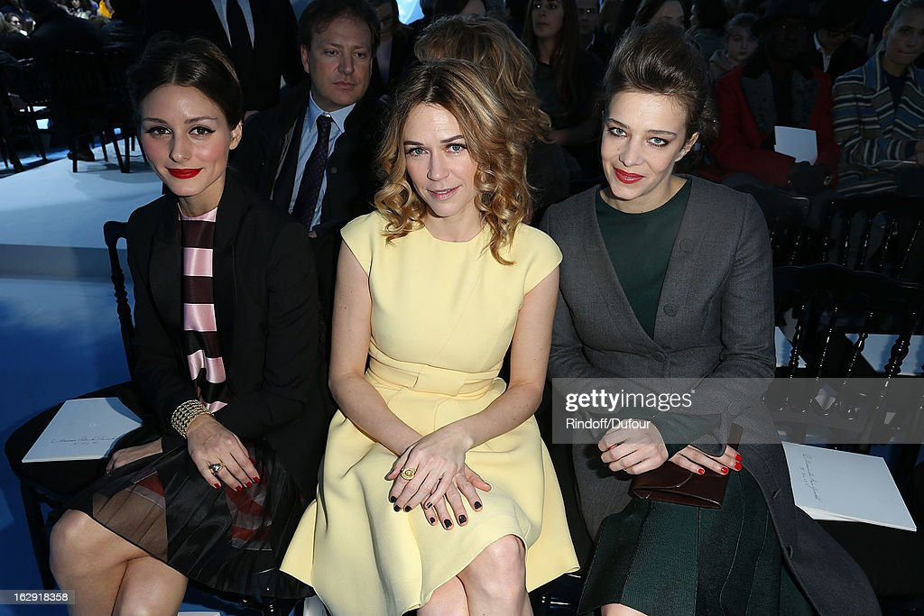 Olivia Palermo, Marie Josee Croze, Celine Sallette attend the Christian Dior Fall/Winter 2013 Ready-to-Wear show as part of Paris Fashion Week on March 1, 2013 in Paris, France.