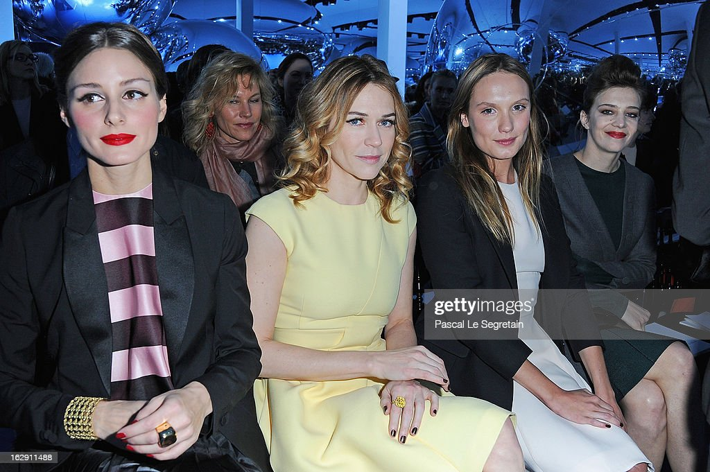 Olivia Palermo, Marie-Josee Croze, Ana Girardot and Celine Sallette attend the Christian Dior Fall/Winter 2013 Ready-to-Wear show as part of Paris Fashion Week on March 1, 2013 in Paris, France.
