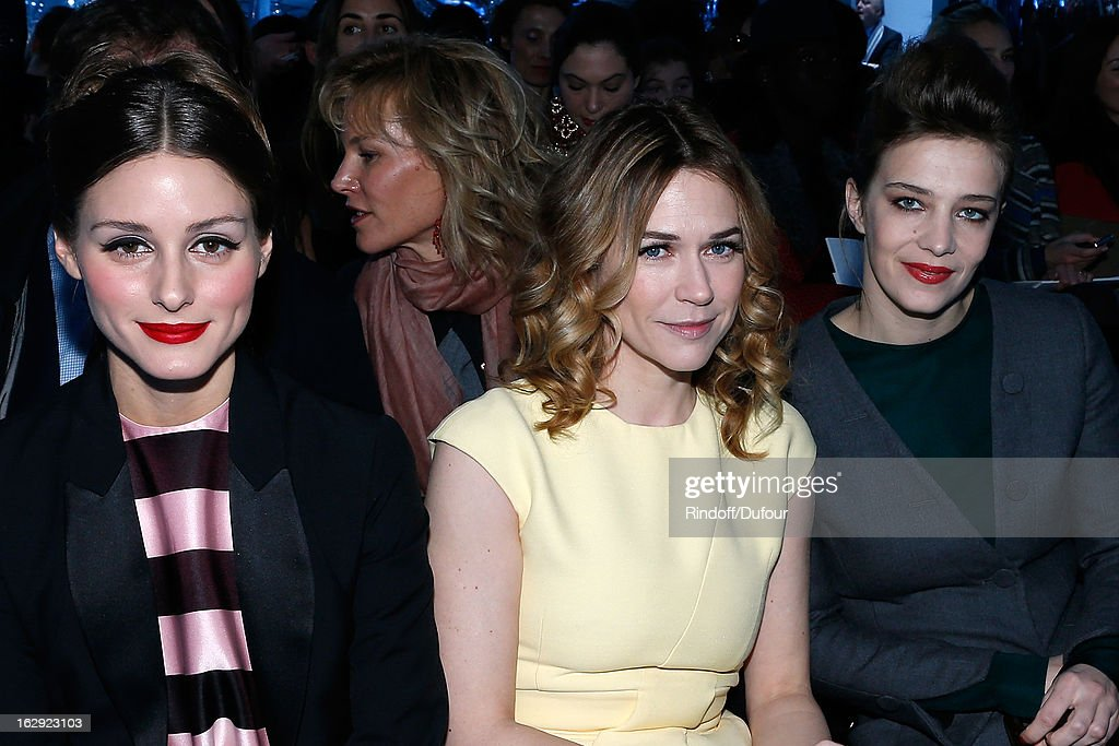 Olivia Palermo, Marie-Josee Croze and Celine Sallette attend the Christian Dior Fall/Winter 2013 Ready-to-Wear show as part of Paris Fashion Week on March 1, 2013 in Paris, France.