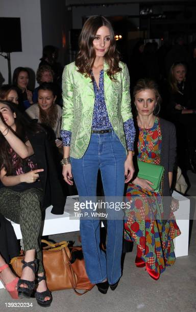 Olivia Palermo on the front row for Jonathan Saunders at London Fashion Week Autumn/Winter 2012 at Broadgate Tower on February 19 2012 in London...
