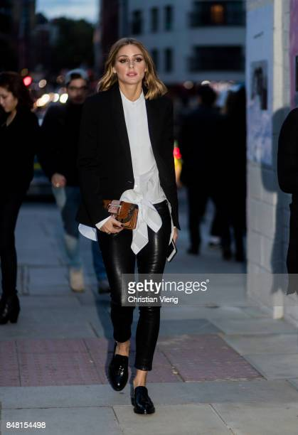 Olivia Palermo outside Burberry during London Fashion Week September 2017 on September 16 2017 in London England
