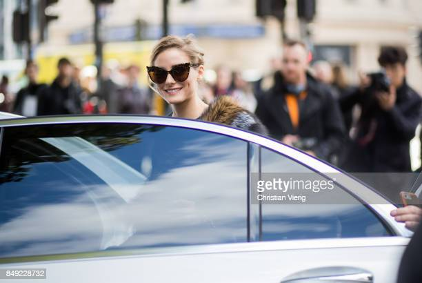 Olivia Palermo outside Pringle of Scotland during London Fashion Week September 2017 on September 18 2017 in London England