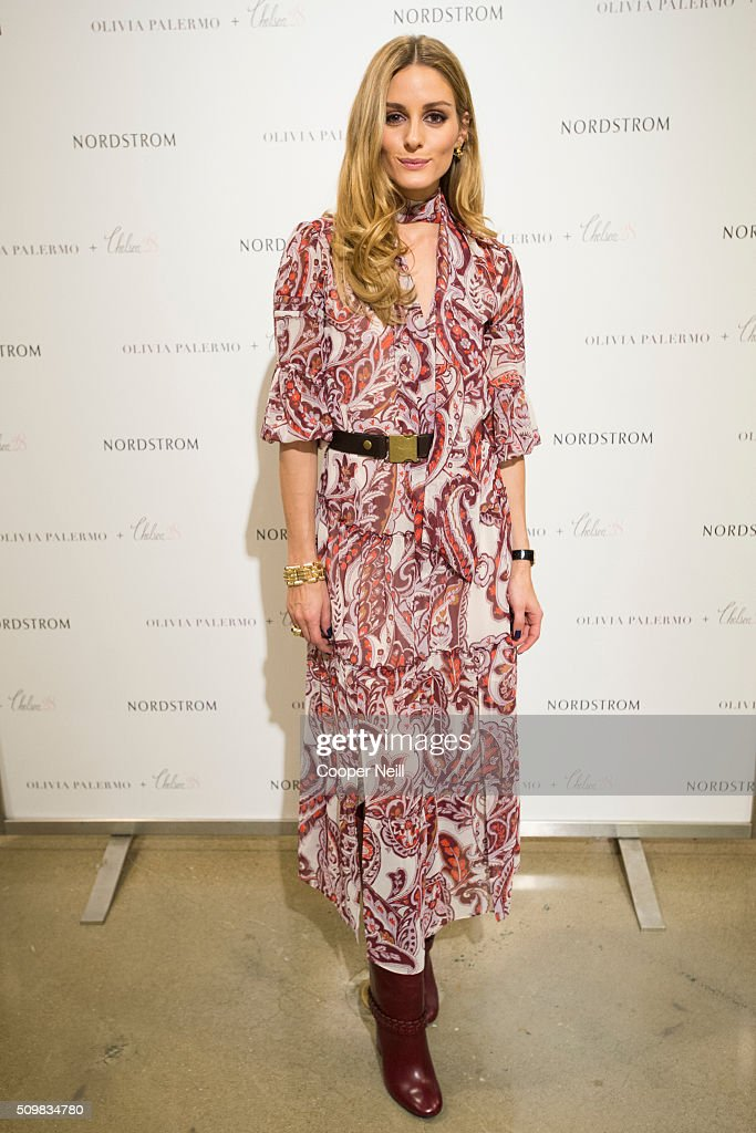 <a gi-track='captionPersonalityLinkClicked' href=/galleries/search?phrase=Olivia+Palermo&family=editorial&specificpeople=2639086 ng-click='$event.stopPropagation()'>Olivia Palermo</a> poses for a photo as she promotes her new collection at Nordstrom Northpark on February 12, 2016 in Dallas, Texas.