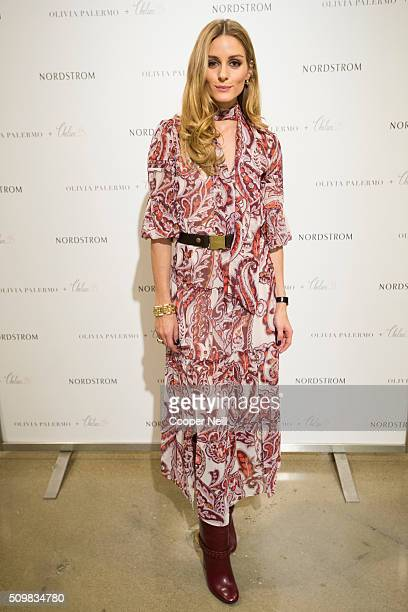 Olivia Palermo poses for a photo as she promotes her new collection at Nordstrom Northpark on February 12 2016 in Dallas Texas