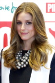 Olivia Palermo presents Maasai Pikolinos New Collection at El Corte Ingles store on May 8 2013 in Madrid Spain