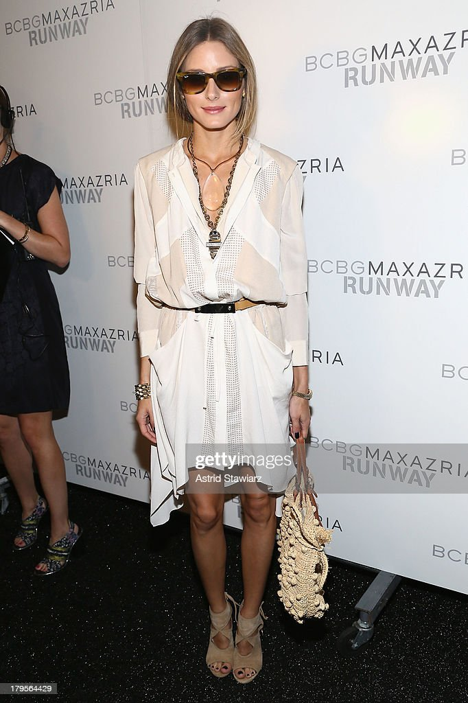 <a gi-track='captionPersonalityLinkClicked' href=/galleries/search?phrase=Olivia+Palermo&family=editorial&specificpeople=2639086 ng-click='$event.stopPropagation()'>Olivia Palermo</a> pses backstage at the BCBGMAXAZRIA Spring 2014 fashion show during Mercedes-Benz Fashion Week at The Theatre at Lincoln Center on September 5, 2013 in New York City.