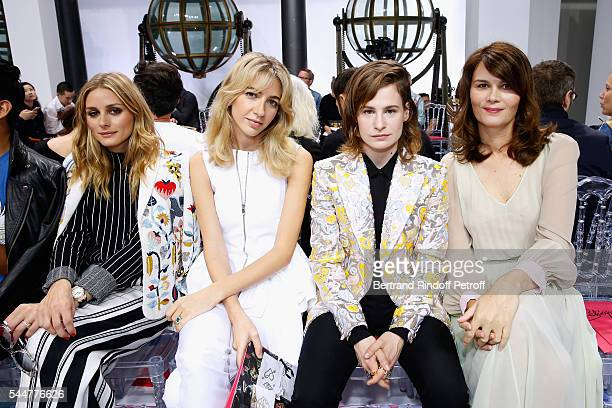 Olivia Palermo Sabine Getty Singer of 'Christine and the Queens' Eloise Letissier and actress Marina Hands attend the Schiaparelli Haute Couture...