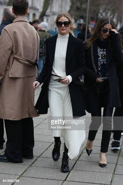 Olivia Palermo seen at Mulberry at Old Billingsgate on Day 3 of London Fashion Week February 2017 on February 19 2017 in London England