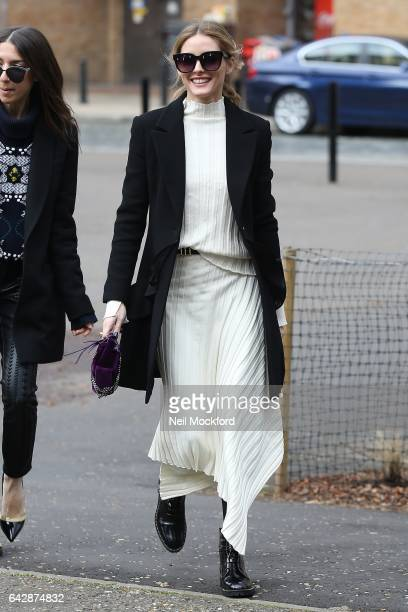 Olivia Palermo seen at Topshop Unique at Tate Modern on Day 3 of London Fashion Week February 2017 on February 19 2017 in London England