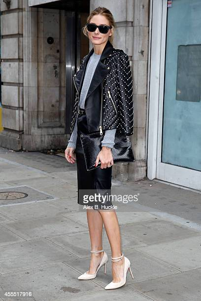 Olivia Palermo seen leaving Victoria House after attending the OSMAN show on September 16 2014 in London England Photo by Alex Huckle/GC Images