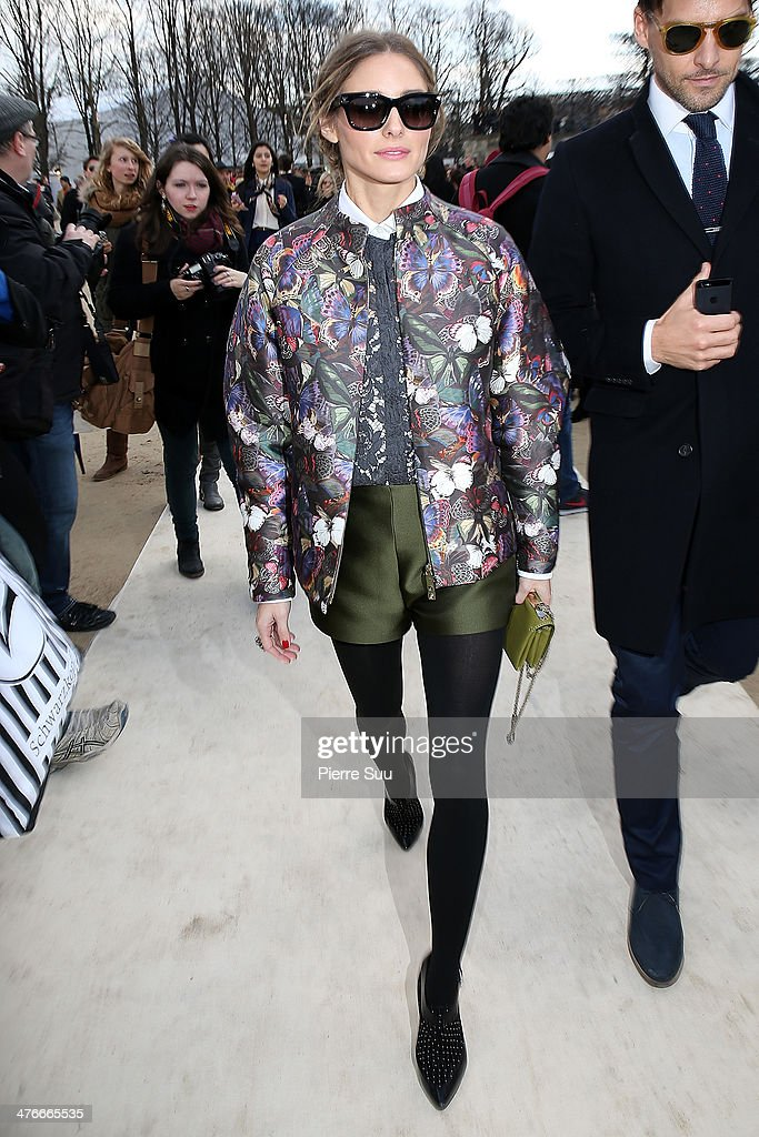 Olivia Palermo seen outside the Valentino show on March 4, 2014 in Paris, France.