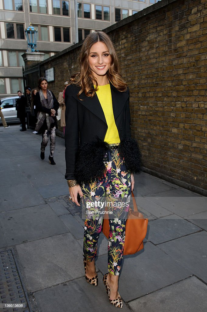 Olivia Palermo sighted during LFW A/W 2012 on February 19 2012 in London England