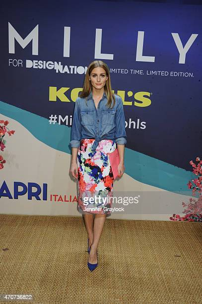 Olivia Palermo Socialite and Style Expect attends the Kohl's MILLY for DesigNation cocktail party at Isola Mondrian Soho Hotel on April 22 2015 in...