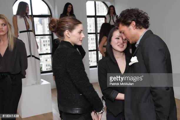 Olivia Palermo Susan Woo and Matthew Marchak attend SUSAN WOO F/W 2010 Presentation supported by Belvedere at Bryant Park Hotel on February 13 2010...