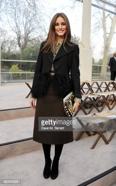 Olivia Palermo the Burberry Prorsum Autumn Winter 2013 Womenswear Show at Kensington Gardens on February 18 2013 in London England