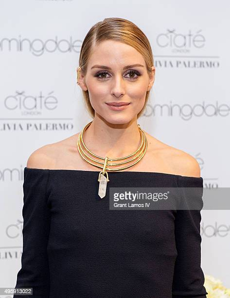 Olivia Palermo visits Bloomingdale's on November 5 2015 in New York City