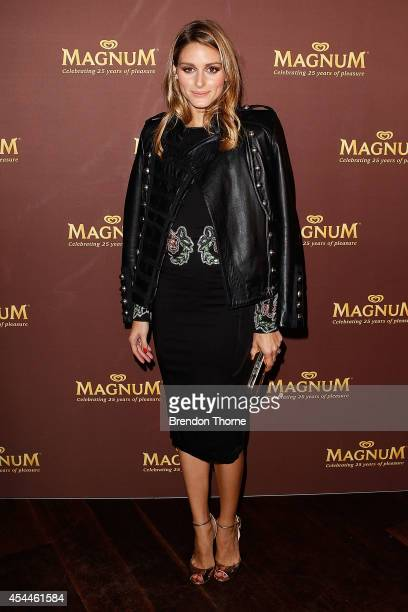 Olivia Palermo walks the red carpet at the Magnum 25th Anniversary Celebration at Catalina Rose Bay on September 1 2014 in Sydney Australia