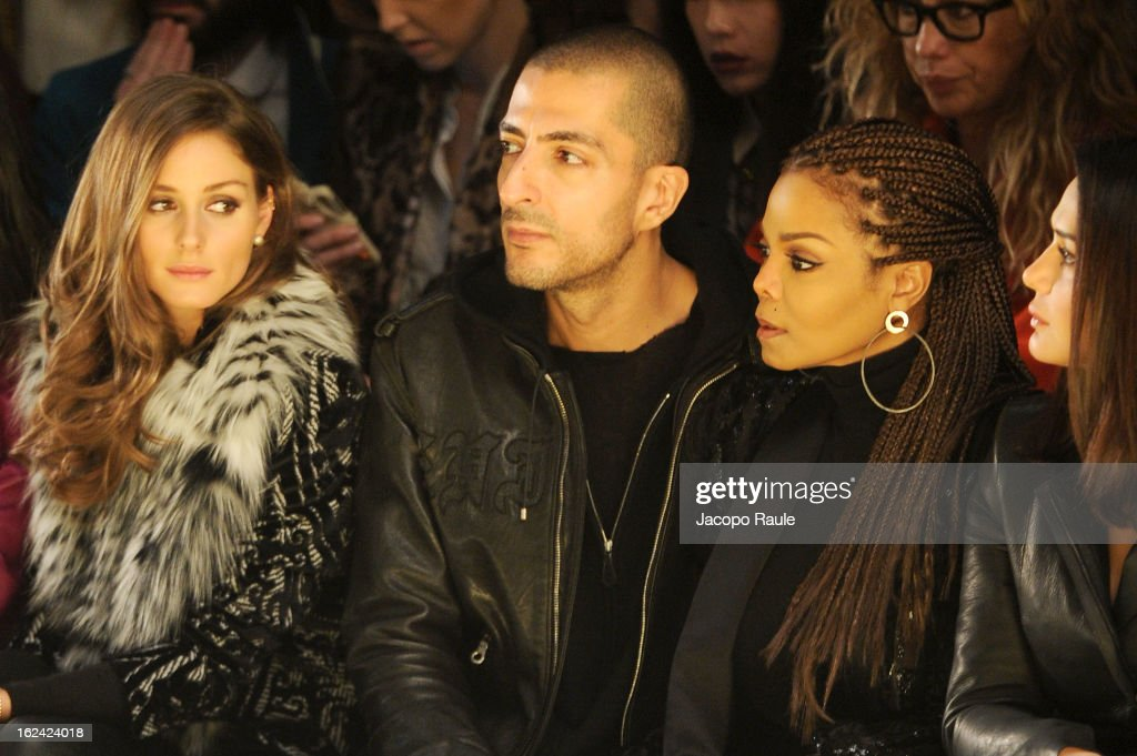 <a gi-track='captionPersonalityLinkClicked' href=/galleries/search?phrase=Olivia+Palermo&family=editorial&specificpeople=2639086 ng-click='$event.stopPropagation()'>Olivia Palermo</a>, Wissam al Mana, <a gi-track='captionPersonalityLinkClicked' href=/galleries/search?phrase=Janet+Jackson&family=editorial&specificpeople=156414 ng-click='$event.stopPropagation()'>Janet Jackson</a> and <a gi-track='captionPersonalityLinkClicked' href=/galleries/search?phrase=Preity+Zinta&family=editorial&specificpeople=630257 ng-click='$event.stopPropagation()'>Preity Zinta</a> attend the Roberto Cavalli fashion show as part of Milan Fashion Week Womenswear Fall/Winter 2013/14 on February 23, 2013 in Milan, Italy.